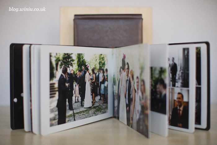 contemporary wedding album